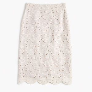 J. Crew Collection Pencil Skirt Austrian Lace 12